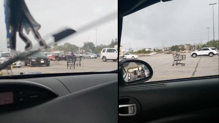 Καρότσια επιτίθενται σε αυτοκίνητα