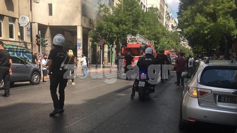 Τέθηκε υπό έλεγχο η φωτιά σε κτήριο στην 23η Σεπτεμβρίου στην Αθήνα
