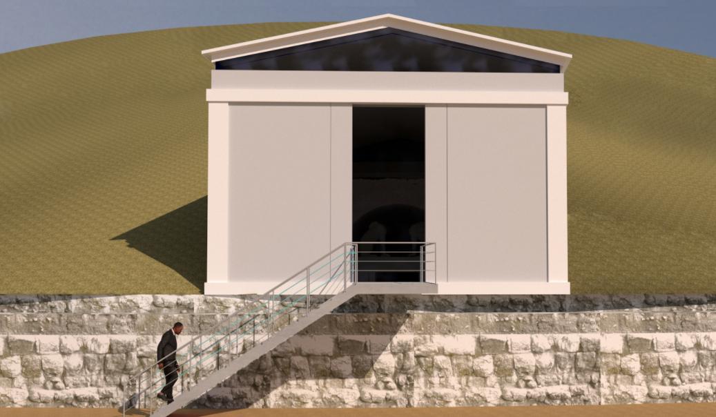 """ΚΑΣ: Ομόφωνα """"ναι"""" για την κατασκευή εξωτερικού κελύφους στον τύμβο Καστά Αμφίπολης"""