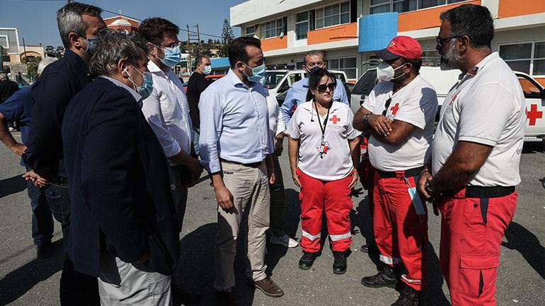 Ηράκλειο: Κλιμάκιο του ΣΥΡΙΖΑ στο Αρκαλοχώρι