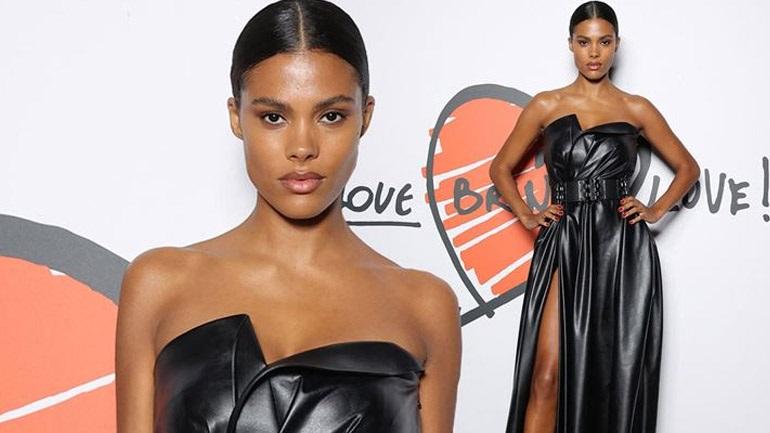 «Love Brings Love»: Η chic and sexy εμφάνιση της Tina Kunakey με leather dress