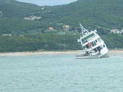 Προσάραξη σκάφους στο Αγκίστρι