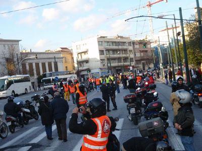 Οι Αγανακτισμένοι Μοτοσυκλετιστές στο συλλαλητήριο για το πολυνομοσχέδιο