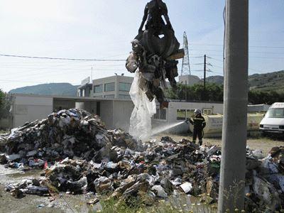 Κρήτη: Φωτιά σε χωματερή