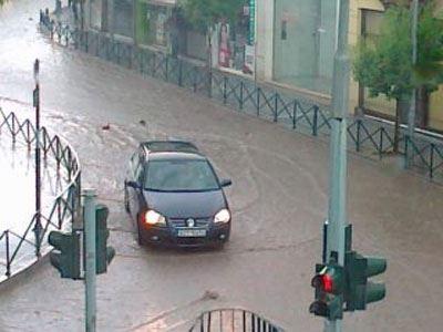 Π�οβλήματα στην Κοζάνη από ισχυ�ή καταιγίδα