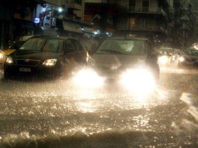 Έκλεισαν δρόμοι λόγω της κακοκαιρίας στη Θεσσαλονίκη