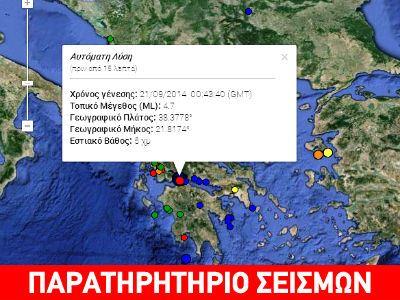Σεισμός 4,5R στη Ναύπακτο