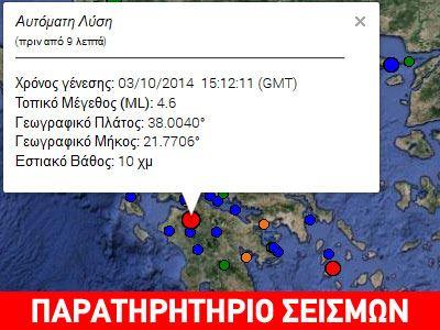Σεισμός 4,6R στην Πελοπόννησο-τι λένε οι σεισμολόγοι