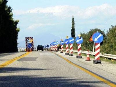 Διακοπή κυκλοφορίας στην Ε.Ο. Κορίνθου - Πατρών από την Τετάρτη