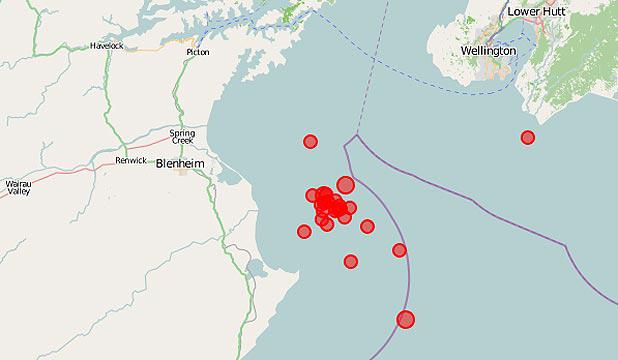 Ο χάρτης των μετασεισμών