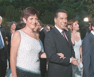 Ο Β. Παπαγεωργόπουλος με τη σύζυγό του