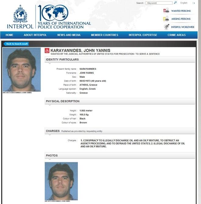To ένταλμα της Interpol