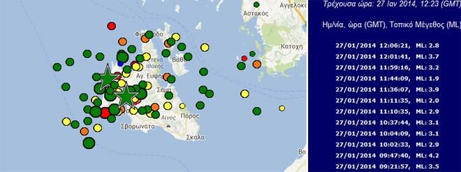 Πλούσια σεισμική ακολουθία