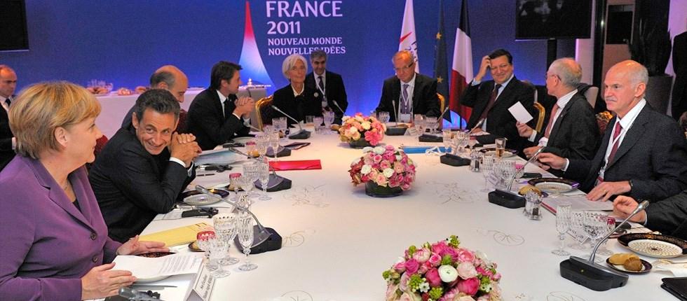 Στιγμιότυπο από γεύμα των G20 στις Κάννες