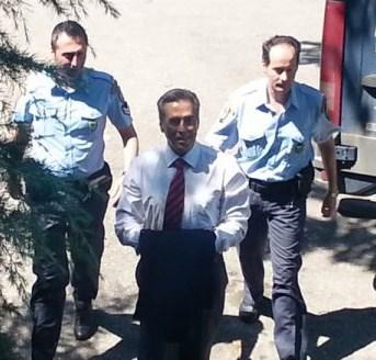 Ο Παπαγεωργόπουλος στο δικαστήριο