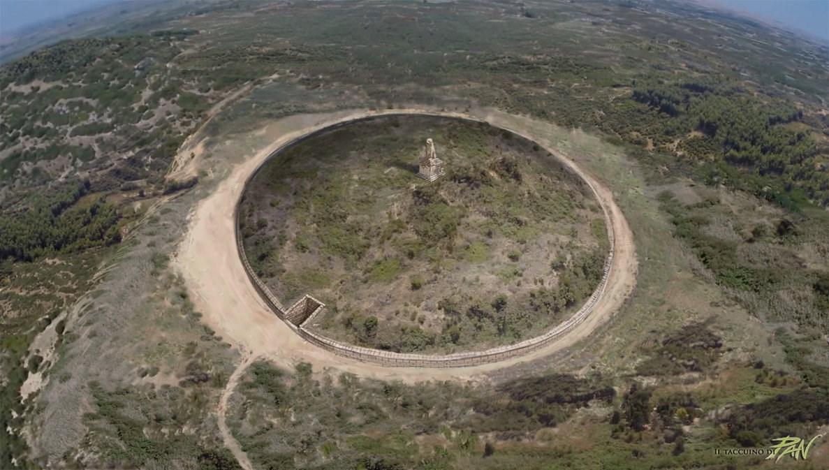 Αναπαράσταση του λόφου Καστά