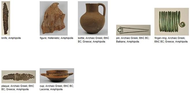 Επεξήγηση των αρχαίων αντικειμένων