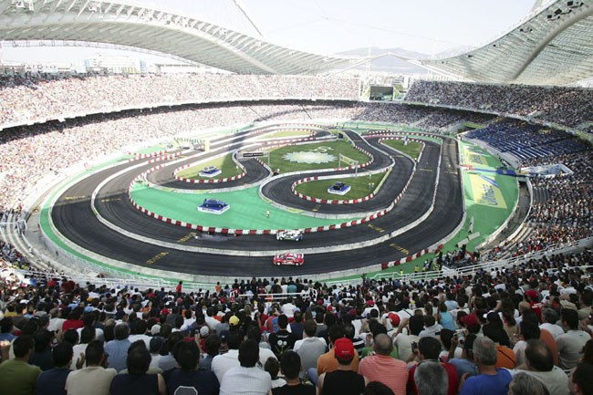 Το 2005 ένας αγώνας ράλι βούλιαξε για...πλάκα το Ολυμπιακό Στάδιο της Αθήνας