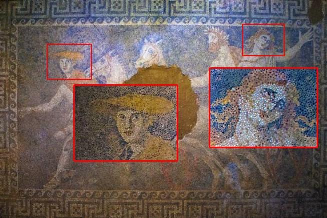 Εμφανής η ομοιότητα στα πρόσωπα του Αλέξανδρου με τη μητέρα του