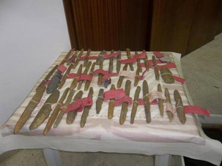 Οι ράβδοι ορείχαλκου που ανακαλύφθηκαν