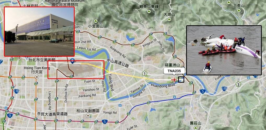 Χάρτης με την πορεία του μοιραίου αεροσκάφους