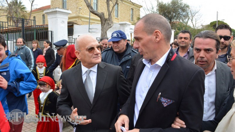 Ο Γιάννης Βαρουφάκης στα Χανιά για τον εορτασμό της 25ης Μαρτίου