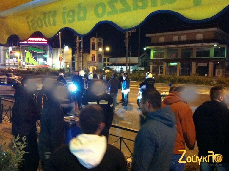 Την Πέμπτη το βράδυ δεν υπάρξαν αυτοσχέδιοι αγώνες αλλά υπήρξαν αρκετοί θεατές μαζί και αστυνομικοί...