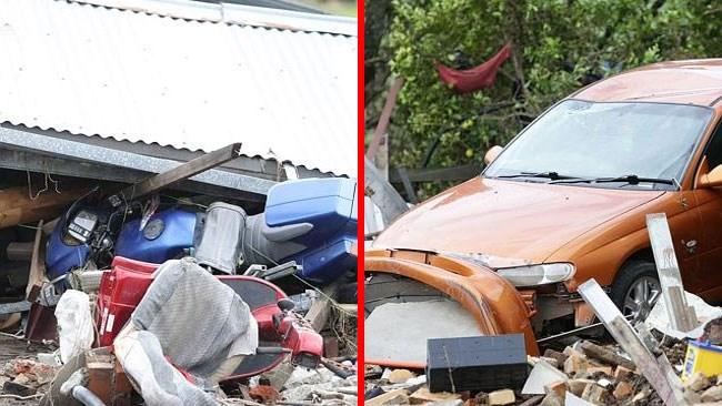 Αυτοκίνητα και μηχανές παρασύρθηκαν από τα ορμητικά νερά