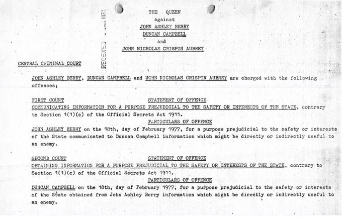 Οι κατηγορίες εναντίον του Ντ. Κάμπελ και δύο συναδέλφων του