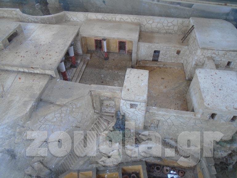 Aρχιτεκτονική αναπαράσταση του παλατιού του Οδυσσέα στον Σταυρό της Ιθάκης