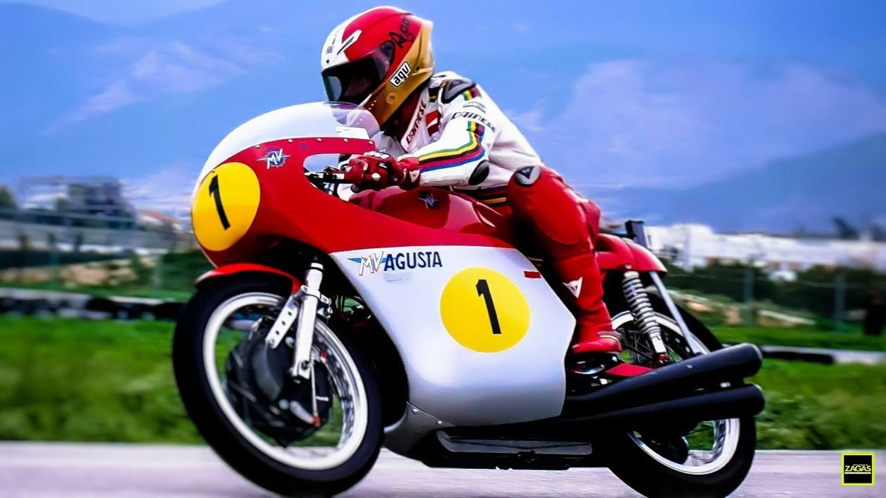 Giacomo Agostini και MV Agusta στο αυτοκινητοδρόμιο της πόλης των Μεγάρων...  (Φωτό: Amazing Studio - Νίκος Ζάγκας)