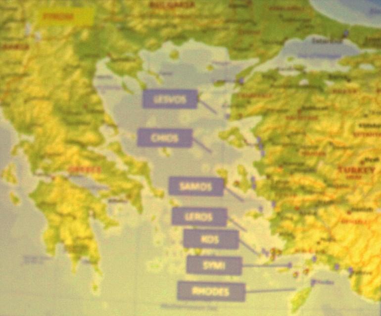 Ο χάρτης που παρουσίασε ο Μουζάλας