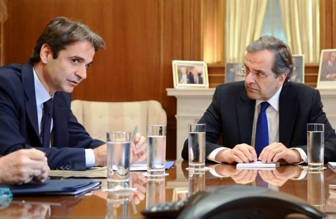 Με τον πρώην πρόεδρο της ΝΔ, Αντώνη Σαμαρά