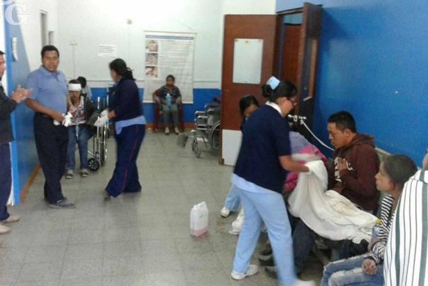 Τραυματίες μεταφέρθηκαν σε κοντινό νοσοκομείο