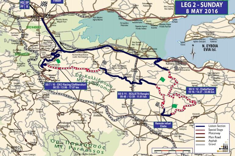 Πατήστε πάνω στην φωτογραφία για να δείτε τον χάρτη με τις ειδικές διαδρομές της 2ης ημέρας μεγαλύτερο...