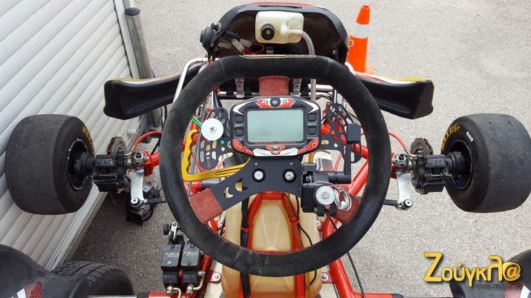 Η εικόνα που βλέπει ο οδηγός όταν κάθεται στο αγωνιστικό καρτ...
