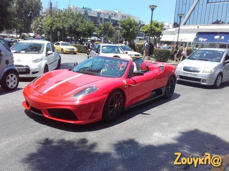 Μία από τις 499 στον κόσμο Ferrari F430 scuderia spyder 16M στην περιοχή της Γλυφάδας