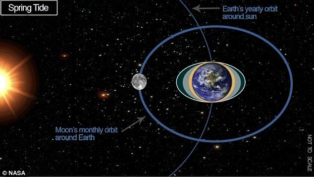 1. Η βαρυτική δύναμη της Σελήνης και του Ηλίου στη Γη παράγει αυτό που είναι γνωστό ως «spring tide» δύο φορές τον μήνα. Η νέα έρευνα εισηγείται πως η δύναμη αυτή στον φλοιό του πλανήτη ενδεχομένως να παίζει ρόλο στην πρόκληση σεισμών