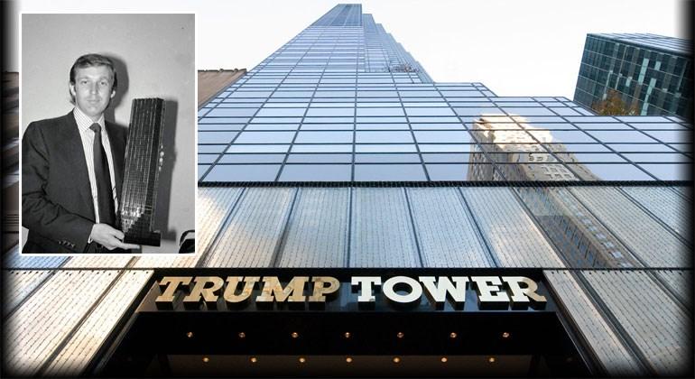 Ένθετη: Ο Τραμπ με τη μακέτα του «Trump Tower» ανά χείρας