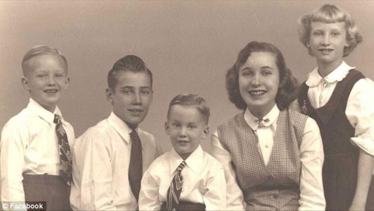 Ο Ντόναλντ παιδί/ Οικογενειακή φωτογραφία