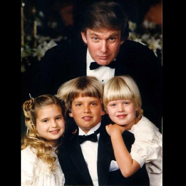 Τα τρία παιδιά του Τραμπ από τον γάμο του με την Ιβάνα: Ντον, Ιβάνκα και Έρικ