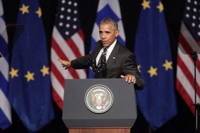 Προφέροντας στα ελληνικά τις λέξεις «καλησπέρα, φιλοξενία, φουστανέλα, oύζο, σπανακόπιτα, κράτος, Δημοκρατία» ξεκίνησε την ομιλία του ο Μπάρακ Ομπάμα στο Κέντρο Πολιτισμού Ίδρυμα Σταύρος Νιάρχος...