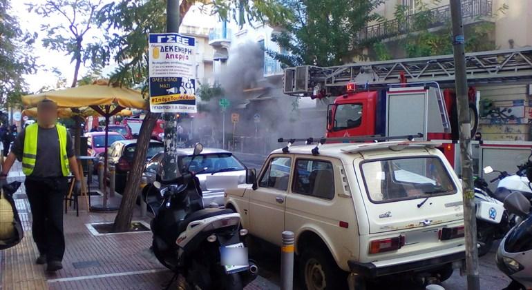 Έκρηξη με μία νεκρή στην πλατεία Βικτωρίας