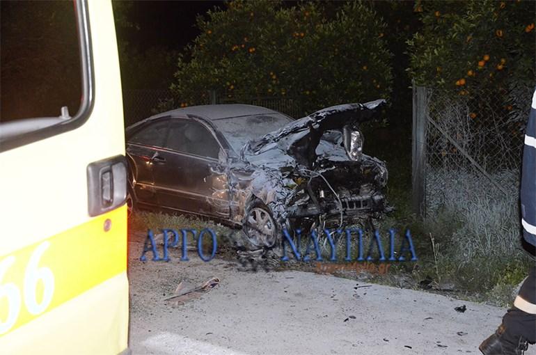 Οδηγός απανθρακώθηκε στην Ε.Ο. Ναυπλίου - Μυκηνών