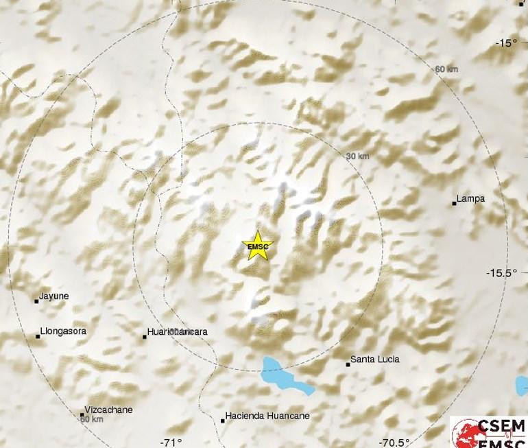 Ισχυρή σεισμική δόνηση 6,2R στο νότιο Περού