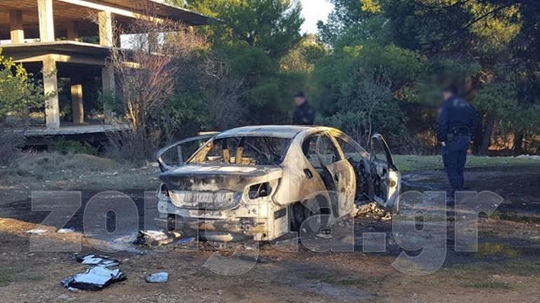 To μαύρο BMW που έκαψαν στην Κηφισιά