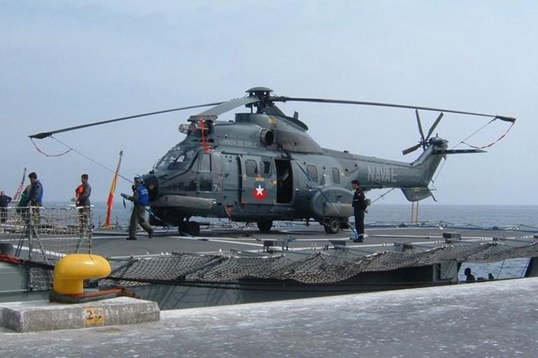 Το ελικόπτερο του χιλιανού στρατού