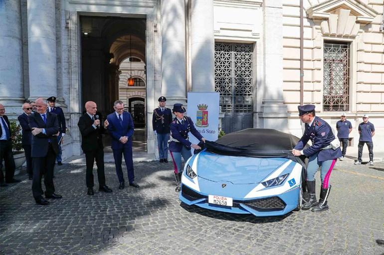 Αποκαλυπτήρια της 3ης Lamborghini στα χρώματα της ιταλικής αστυνομίας...