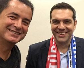O Toύρκος παραγωγός με τον έλληνα πρωθυπουργό