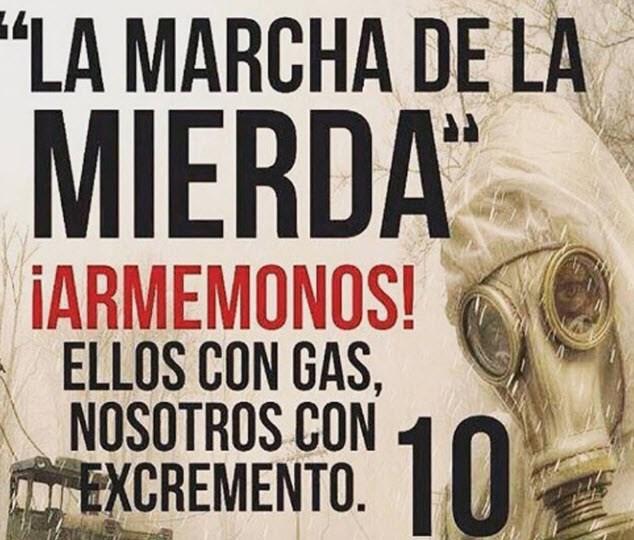 'Η πορεία των περιττωμάτων', όπως ονομάστηκε το τελευταίο κάλεσμα σε διαδηλώσεις εναντίον του Μαδούρο...